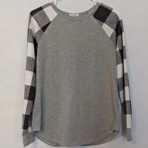 ***3 for $15 Viamor Grey Long Sleeve Top Sz Sm